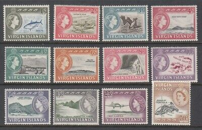 1964 Virgin Islands Definitive Issues set of 12 mint stamps