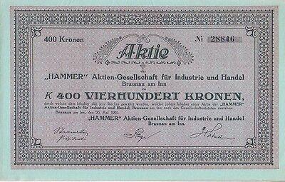 Hammer AG für Industrie und Handel Braunau am Inn 1923