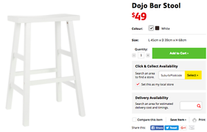 Fantastic furniture - dojo bar stool Bomaderry Nowra-Bomaderry Preview