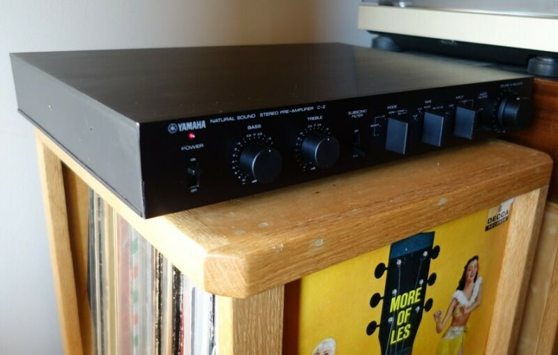 Yamaha C-2 Pre-Amplifier (Control Amplifier) Recapped with Audiophile Components
