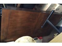 Solid Darkwood Extending Dining Table 150cm FREE DELIVERY 887