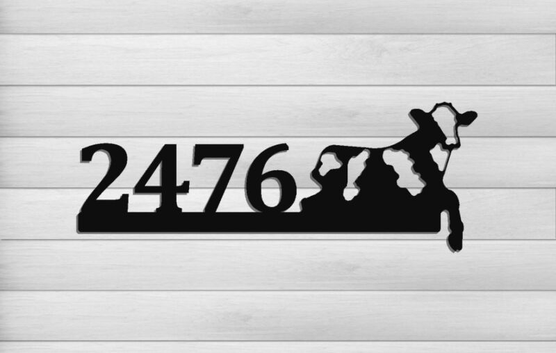 DAIRY COW ADDRESS SIGN - FARM AND RANCH DECOR