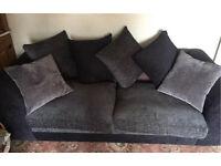 Grey fabric 2-3 seater sofa