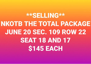 2 Tickets to NKOTB Concert