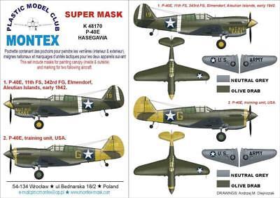 Montex Mini Mask 1:48 Hurricane Mk.I-IV for Hasegawa Spraying Stencil #SM48013