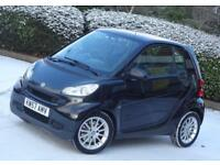 2008 57 Smart fortwo 1.0 999cc engine, Automatic gearbox, Black, 54k Low Mileage