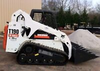 Bobcat skid steer service, fully insured 10 years experience