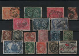 Stamps on 8 stockcards mint and used