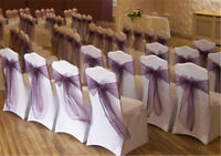 tablecloths, chair covers, overlays, sashes