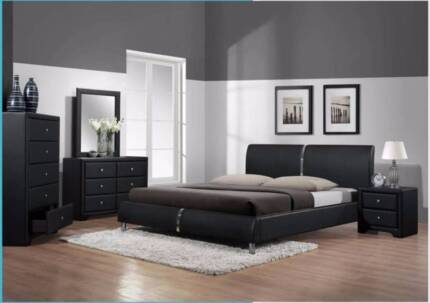 CONTEMPORARY QUEEN BED - CLOSING DOWN CLEARANCE SALE!!