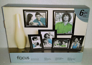 Focus 6 piece black wooden photo frame decorative accent London Ontario image 1