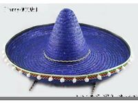 day of the dead mexican sombrero blue x 2 great for fancy dress party or stag do