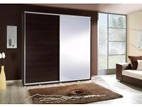 German-made Quality Large Sliding Wardrobe with Mirror BRAND NEW