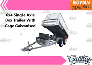 ※6x4 Single Axle Box Trailer With Cage Galvanised ※ Moorabbin Kingston Area Preview