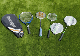 Badminton and tennis racquets