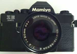 Mamiya Sekor ZE Quartz with lens 1:2 f= 50mm,I