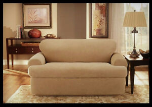 "LOVE-SEAT SLIPCOVER by SURE-FIT ~ FITS ""T"" CUSHIONS"