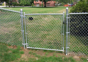 Chain Link Fence and Gate.