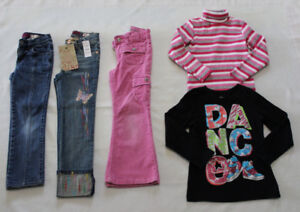 Girls Children's Place jeans, tees, size 5