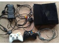 XBOX 360 SLIM WITH CABLES & CONTROLLER