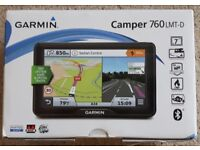 Garmin Camper 760LMT-D SatNav with Lifetime UK EU Maps+Traffic