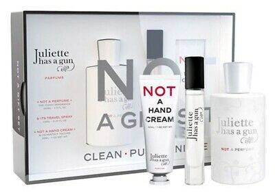 NOT A PERFUME Juliette Has a Gun 3pc Gift Set 3.3 EDP+0.25 Spray+1.0 Hand Cream