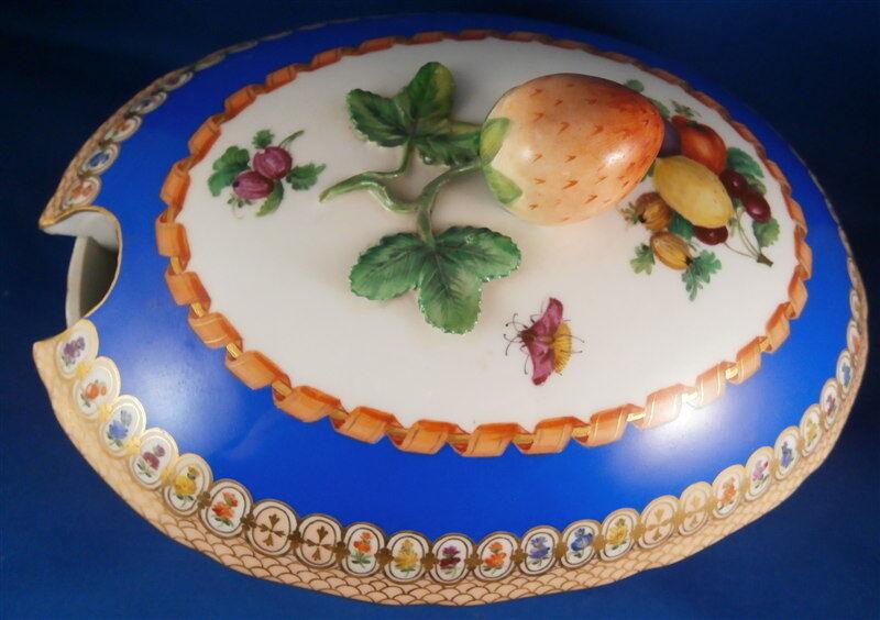 Rare Meissen Porcelain Saxon Royal Court Hofservice Tureen Porzellan Terrine