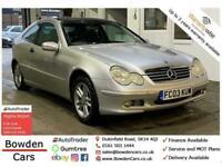 2003 Mercedes-Benz C Class 1.8 C200 Kompressor SE 2dr Coupe Petrol Automatic