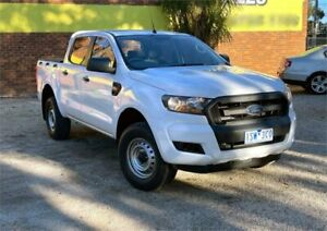 2015 Ford Ranger PX MkII XL 2.2 Hi-Rider (4x2) White 6 Speed Automatic Crew Cab Pickup Upper Ferntree Gully Knox Area Preview