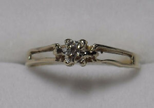 """10kt yellow gold .10ct """"Diamond"""" Pre-Engagement Ring - Size 6"""