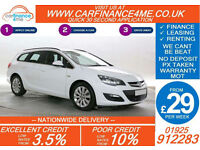 2014 VAUXHALL ASTRA 1.7 CDTI TOURER GOOD / BAD CREDIT CAR FINANCE FROM 29 P/WK