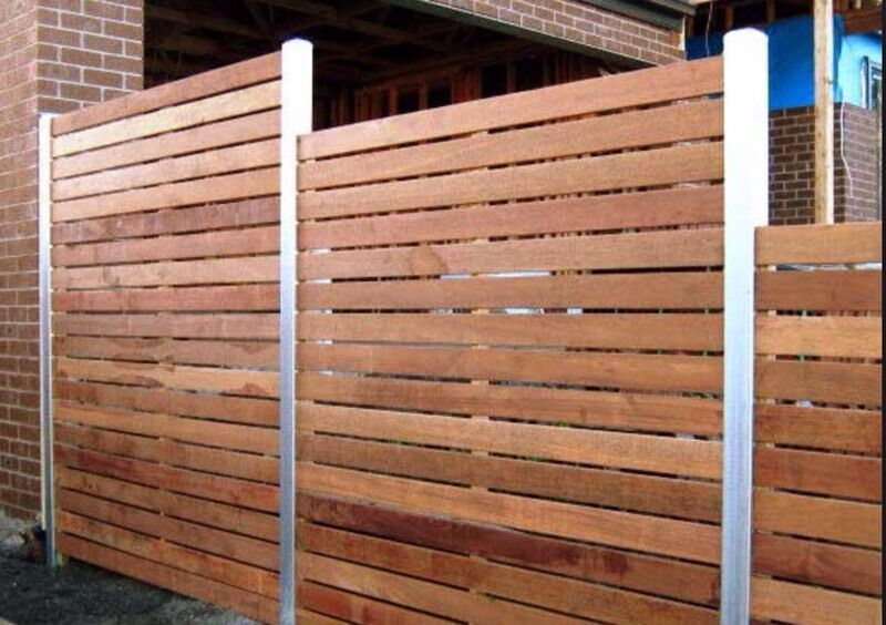 All types of fencing decking installed wood or concrete for Garden decking and fencing