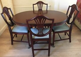 Stag - Mahogany table & 4 chairs