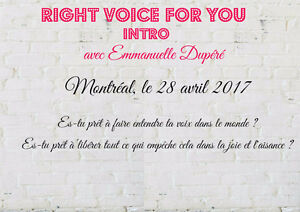 Atelier d'intro - Right Voice for you