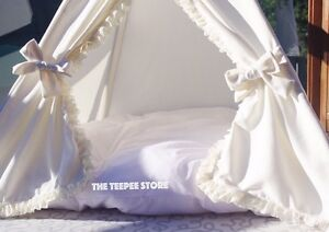 Teepee tipi princess wigwam ivory. Tender stylish. Decor Downtown-West End Greater Vancouver Area image 4