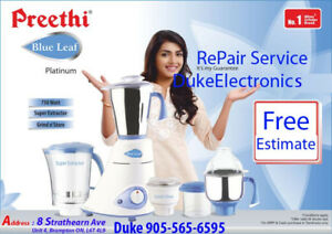 Free Estimate,Preethi, KitchenAid,Sumeet, Any Model Mixer Repair