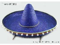 mexican sombrero day of the dead blue great for party or stag do