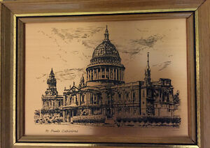 Copper etching  St. Paul's Cathedral