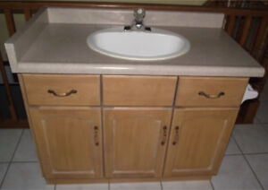Bathroom Vanity with Sink, Faucet, Paper Holder