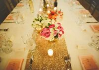 Gold table runners
