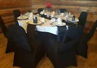 120 Black Polyester napkins 20 inch