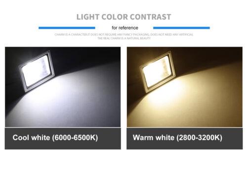 30W 50W 100W PIR Motion Sensor LED Flood Light Outdoor Security Waterproof Lamp 7