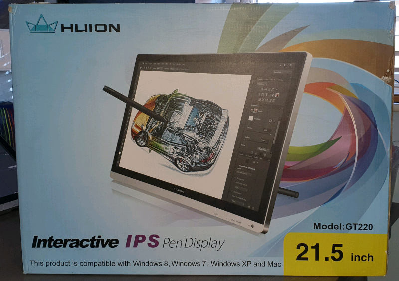 Huion GT-220(V1) Graphics Tablet   in Doagh, County Antrim   Gumtree