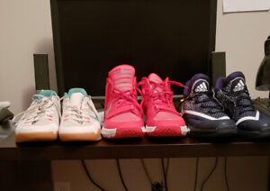Adidas, K.D's and Kobe's all size 16's