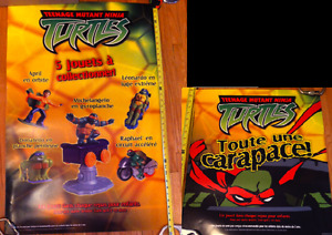 Vintage Teenage Mutant Ninja Turtles Toy Ad Poster Set TMNT