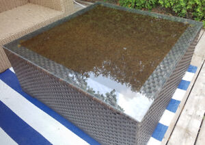 Large Patio Table - Glass Top