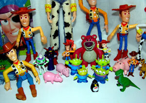"""Toy Story Figures, 11"""" Jesse Doll, Etc. Lot of 34"""