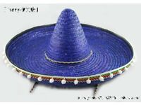BLUE MEXICAN SOMBRERO DAY OF THE DEAD GREAT FOR PARTY OR STAG DO