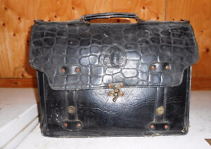 ATTACHÉ-CASE, ÉTUI, MALLETTE (SATCHEL) ANTIQUE VINTAGE