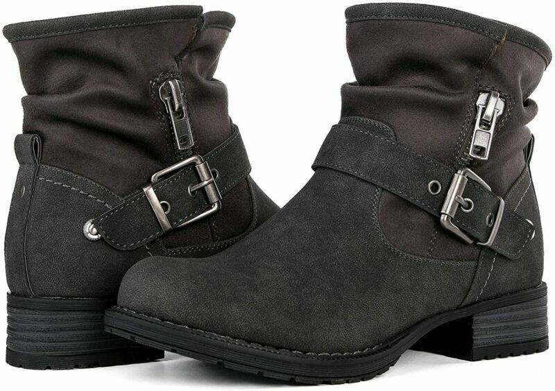 GLOBALWIN Women's Winter Fasion Boots  7, 16grey